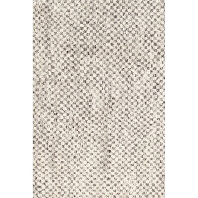 Hand Knotted Beige Area Rug Rug Size: Rectangle 2' x 3'