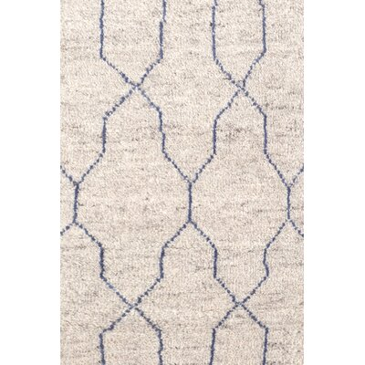 Hand Knotted Beige Area Rug Rug Size: Rectangle 8 x 10