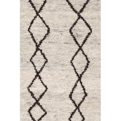 Hand-Knotted Beige Area Rug Rug Size: Rectangle 10 x 14