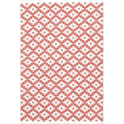 Samode Hand-Woven Pink/White Indoor/Outdoor Area Rug