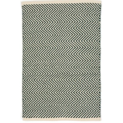 Arlington Hand Woven Green/White Indoor/Outdoor Area Rug Rug Size: 3 x 5