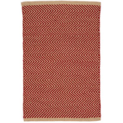 Arlington Hand-Woven Red Indoor/Outdoor Area Rug Rug Size: 5 x 8