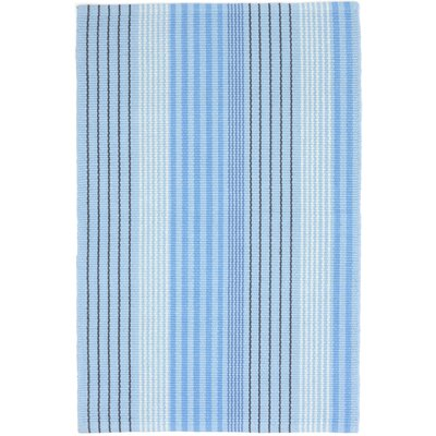 Ticking Hand Woven Blue Area Rug Rug Size: 6 x 9