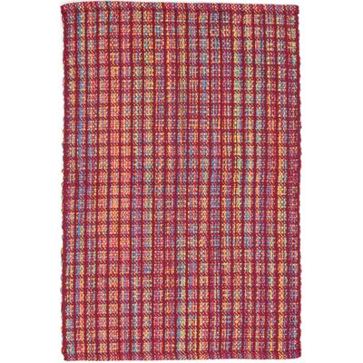 Hand Woven Red Indoor/Outdoor Area Rug Rug Size: 4 x 6