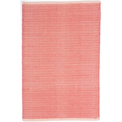 Herringbone Hand Woven Pink Area Rug Rug Size: Rectangle 2' x 3'