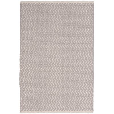 Herringbone Hand-Woven Grey Area Rug Rug Size: Rectangle 4 x 6