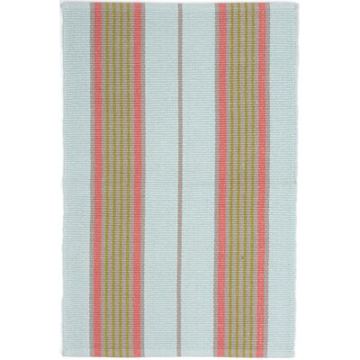 Ticking Hand Woven Blue Area Rug Rug Size: 8 x 10