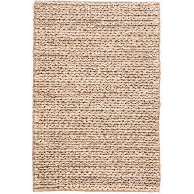 Hand-Woven Beige Area Rug Rug Size: Rectangle 8 x 10