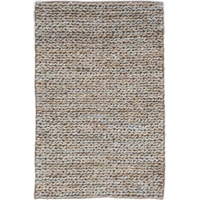 Hand-Woven Beige/Grey Area Rug Rug Size: Rectangle 8' x 10'
