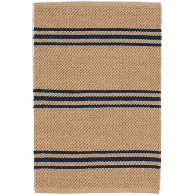 Lexington Hand Woven Blue/Beige Indoor/Outdoor Area Rug Rug Size: Rectangle 2 x 3