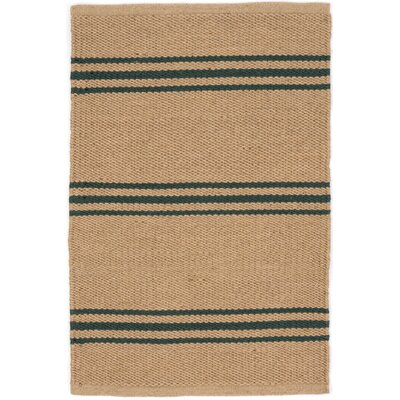 Lexington Hand Woven Green/Beige Indoor/Outdoor Area Rug Rug Size: Runner 26 x 8