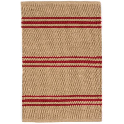 Lexington Hand Woven Red/Beige Indoor/Outdoor Area Rug Rug Size: 5 x 8