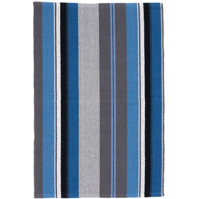 Hand Woven Blue Area Rug Rug Size: 9 x 12