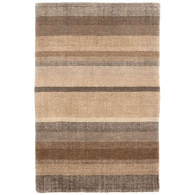 Hand Knotted Beige Area Rug Rug Size: 5 x 8