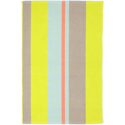 Hand Woven Yellow/Grey Area Rug Rug Size: Runner 26 x 8