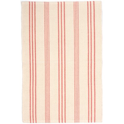 Hand Woven Pink/White Area Rug Rug Size: Rectangle 4 x 6