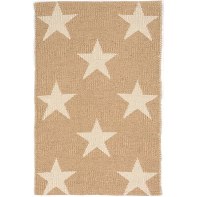 Star Hand Woven Beige/White Indoor/Outdoor Area Rug Rug Size: Rectangle 5 x 8