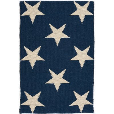 Star Hand Woven Blue/White Indoor/Outdoor Area Rug