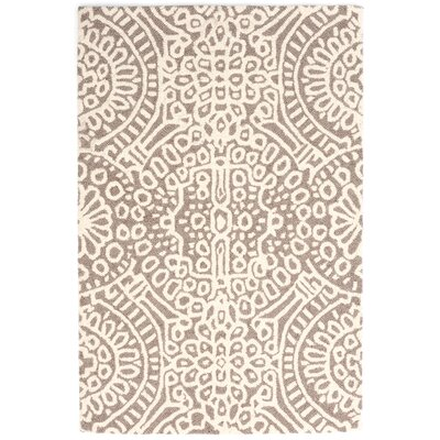 Hooked Beige/Ivory Area Rug Rug Size: Rectangle 8 x 10