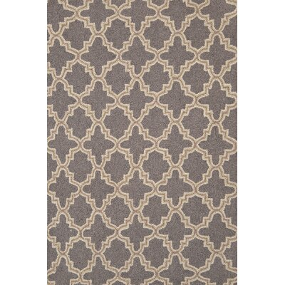 Hooked Gray Area Rug Rug Size: 4 x 6
