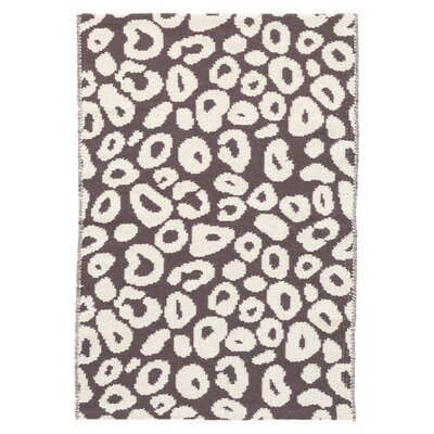 Spot Brown/White Area Rug Rug Size: 2 x 3