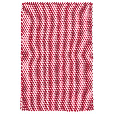 Two-Tone Rope Red/White Indoor/Outdoor Area Rug Rug Size: 4 x 6