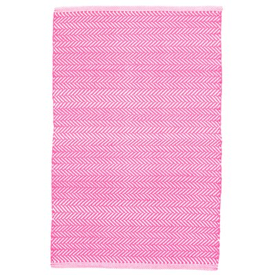 C3 Herringbone Pink Indoor/Outdoor Area Rug Rug Size: 4 x 6