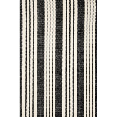 Birmingham Black/Ivory Indoor/Outdoor Area Rug Rug Size: Runner 26 x 8