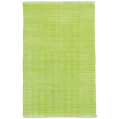 C3 Herringbone Green Indoor/Outdoor Area Rug Rug Size: 4 x 6