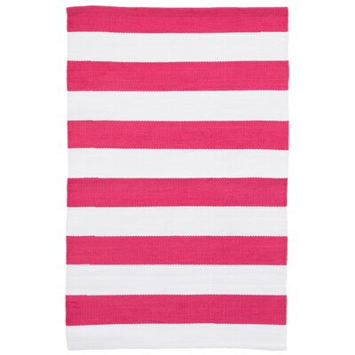 Catamaran Fuchsia/White Indoor/Outdoor Area Rug Rug Size: Runner 26 x 12