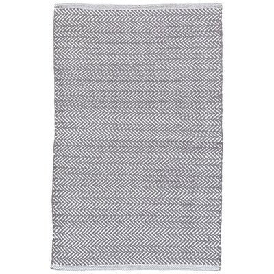 C3 Herringbone Gray Indoor/Outdoor Area Rug Rug Size: 5 x 8