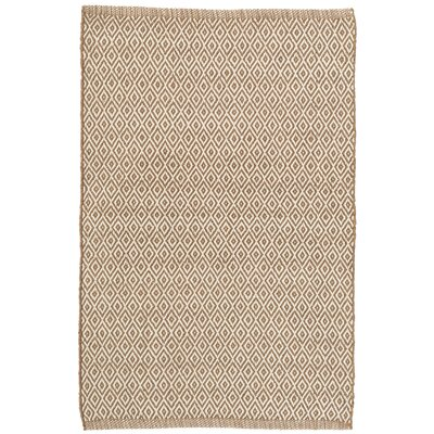 Crystal Brown/White Indoor/Outdoor Area Rug Rug Size: 5 x 8