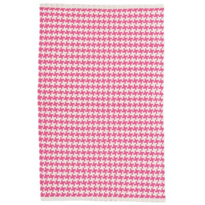 Checks Pink/White Area Rug Rug Size: 4 x 6