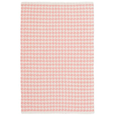 Checks Pink/White Area Rug Rug Size: 2 x 3
