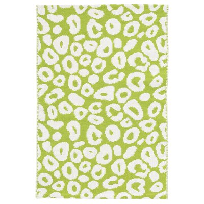 Spot Green/White Area Rug Rug Size: Runner 26 x 12
