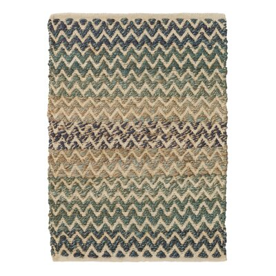 Green/Blue Area Rug Rug Size: 2 x 3
