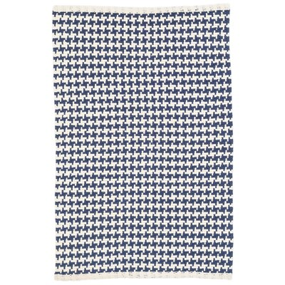Checks Blue Area Rug Rug Size: 8 x 10