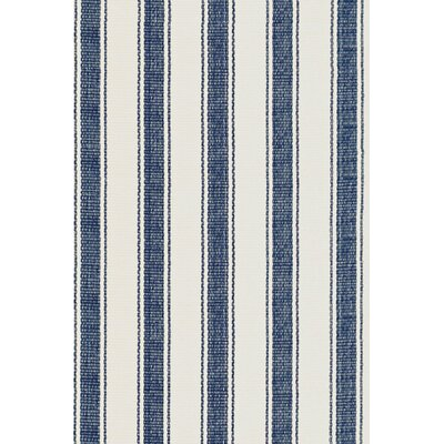 Awning Blue/White Indoor/Outdoor Area Rug Rug Size: 5 x 8