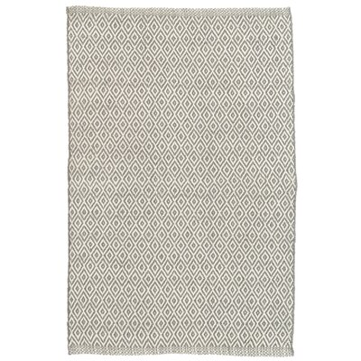 Crystal Gray/White Indoor/Outdoor Area Rug Rug Size: 5 x 8