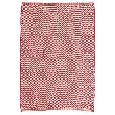 Crystal Red/White Indoor/Outdoor Area Rug Rug Size: 3 x 5