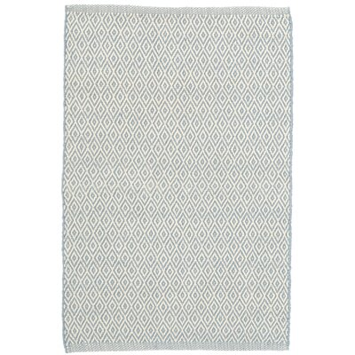 Crystal Swedish Blue/White Indoor/Outdoor Area Rug Rug Size: 2 x 3
