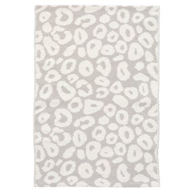 Spot Gray/White Indoor/Outdoor Area Rug Rug Size: 4 x 6