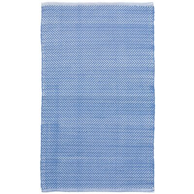 C3 Herringbone Blue Indoor/Outdoor Area Rug Rug Size: Runner 26 x 12