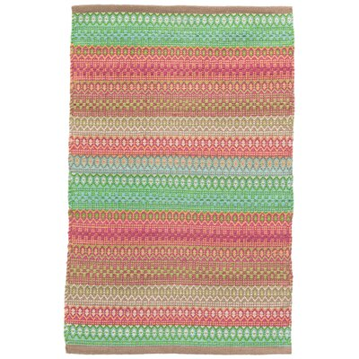 Gypsy Pink/Green Indoor/Outdoor Area Rug Rug Size: 6 x 9