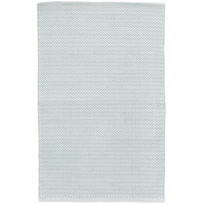 Herringbone Blue/White Indoor/Outdoor Area Rug Rug Size: Rectangle 6 x 9