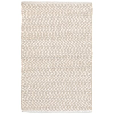 C3 Herringbone White Indoor/Outdoor Area Rug Rug Size: 6 x 9