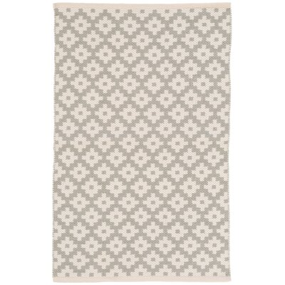 Samode Silver/White Indoor/Outdoor Area Rug Rug Size: 4 x 6