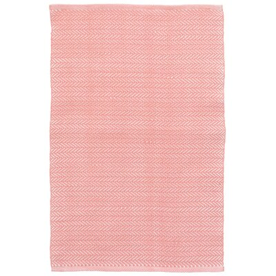 C3 Herringbone Pink Indoor/Outdoor Area Rug Rug Size: Runner 2'6