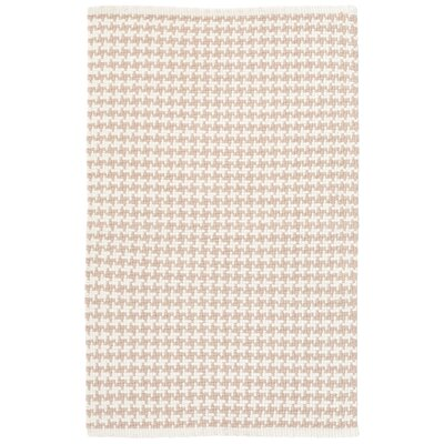 Checks Beige Area Rug Rug Size: 2 x 3