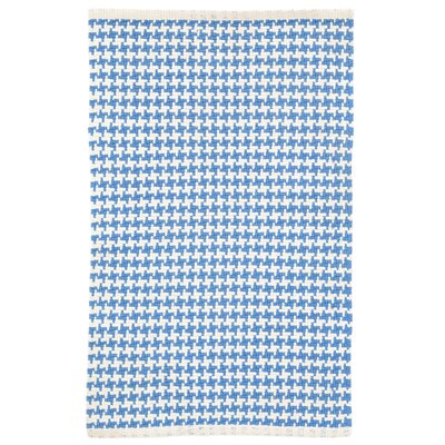 Checks French Blue/White Area Rug Rug Size: 9 x 12